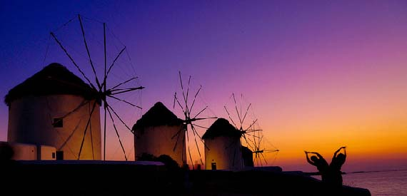 Windmills of Mykonos. Foto: Hassan Rafeed/flickr.com